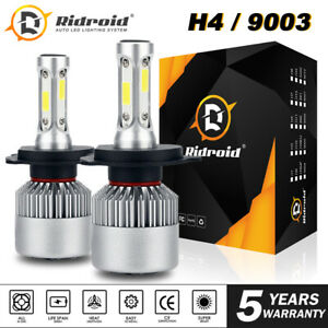 2x H4 Hb2 9003 285000lm 1950w Led Headlight Kit Hi lo Beam Bulb High Power 6000k
