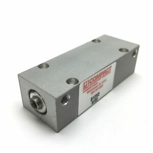 Compact B12x2 Pneumatic Cylinder Bore 1 2 Stroke 2 Ports 10 32 125psi