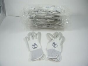 Atlas 370 Showa Nitrile Rubber Palms Work Gloves 12 Pair Xs White