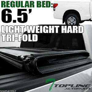 Topline For 2014 2019 Toyota Tundra 6 5 78 Bed Lw Hard Tri Fold Tonneau Cover