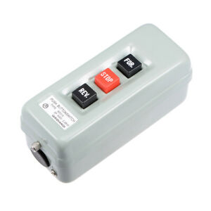 Self Locking Forward Stop Reverse Pushbutton Push Button Station 15a 2 2kw