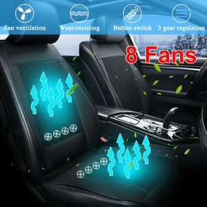 Cooling Car Seat Cushion Cover Air Ventilated Fan Conditioned Cooler Pad 3 Speed