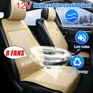 Cooling Car Seat Cushion Cover Air Ventilated Fan Conditioned Cooler Pad 8 Fan