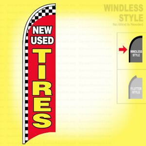 New Used Tires Windless Swooper Flag 2 5x11 5 Ft Feather Banner Sign Rb