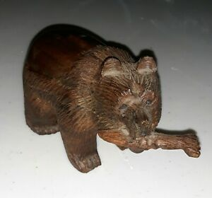 Hand Carved Wooden Bear
