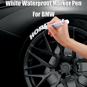 1pcs White Waterproof Permanent Car Tyre Tire Tread Paint Marker Pen Fits Bmw