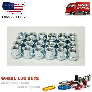 24 Pcs 14x1 5 Open End Bulge Acorn Lug Nuts Fit Ford Chevy Cadillac