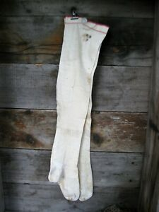 Primitive Antique Ladies Stockings Initials Eb 9 Free Shipping
