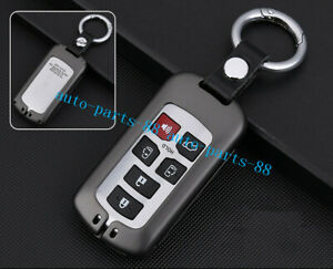 Biack Aluminum Car Remote Key Protecter Cover For Toyota Sienna 2018 2019
