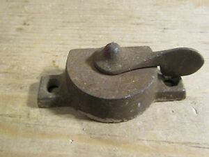 Antique Victorian Sash Casement Window Turn Latch Lock Only Pat 1887