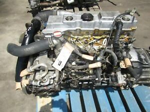Jdm 2000 Mitsubishi Canter 4m40 2 8l Diesel Engine 5 Speed Manual Transmission