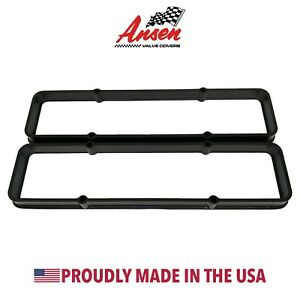 Ansen Small Block Chevy Sbc Die cast Aluminum Black Valve Cover Spacers