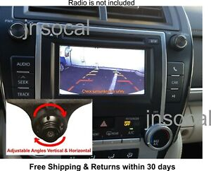 Backup Rear View Camera Kit For Toyota Camry Prius 2012 2014 Plug Play