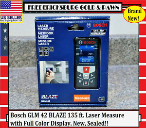 Bosch Glm 42 Blaze 135 Ft Laser Measure With Full Color Display New Sealed