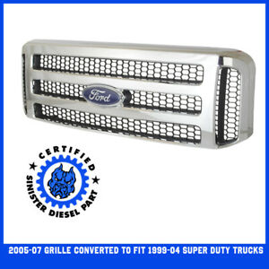 Blemish Chrome Ford Superduty Grill 1999 04 F250 F350 Superduty Grille