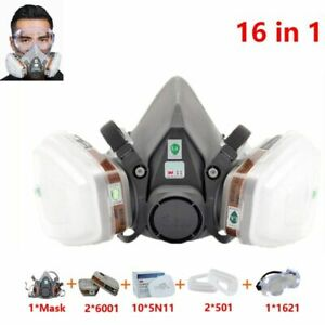 Half Face Mask Painting Spraying Respirator Gas Safety Work Dust Filter 3m 6200