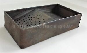 Antique Victorian Stove Top Toaster Grill Camping Fireplace Punched Tin