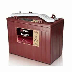 Battery Trojan T 1275 12v 150 Ah Deep Cycle Flooded With Master Vent Mv Each
