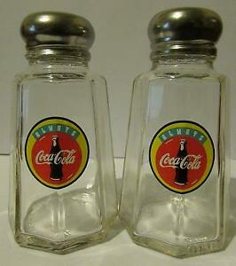 A Great Set of 2 Always Coca Cola Salt and Pepper Shakers