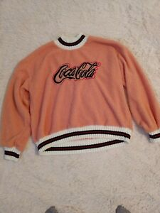 Coca Cola Fuzzy Pink Sweater