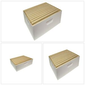 Hive Box 10 Frames Foundations Medium Ready To Use Painted Beekeeping Supplies