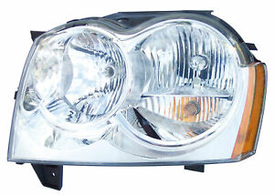 2005 2007 Jeep Grand Cherokee Driver Left Side Headlight Lamp Assembly