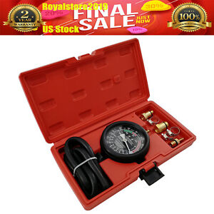 2 5 Exhaust Back Pressure Tester Heavy Duty Pressure Gauge Dual Scale Usa Ship