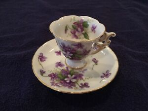 Rosetti Cup And Saucer Hand Painted Occupied Japan