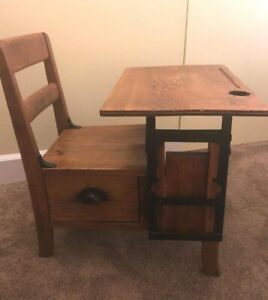 Antique Oak Child S Desk