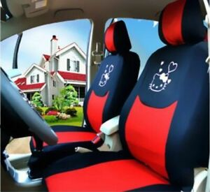 New Cute 10 Pcs Hello Kitty Universal Car Seat Covers