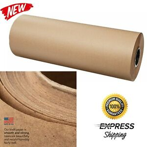 Brown Kraft Paper Roll Wrapping Sheets 24 Width 900 Ft Length Packing Wrap New
