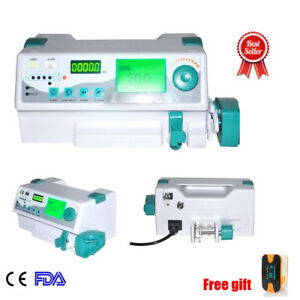 A Human Veterinay Injection Syringe Pump Hd Lcd Display With Kinds Language