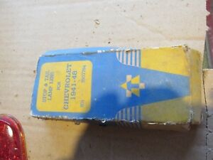 Nos Vintage Red Tail Stop Light Lens For 1941 48 Chevy