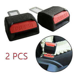 2x Universal Car Seat Belt Plug Buckle Safety Clip Extender Alarm Canceller Tren