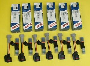 6 New Genuine Bosch Ev14 52lb 550cc Fuel Injectors Upgrade For Infiniti G35 G37