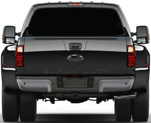 Pure Black Rear Window Perforated Decal Sticker For Pickup Truck 22 X 65