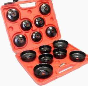 15pc Oil Filter Cap Wrench Oil Filter Socket Set Remover Installer Hand Tools