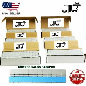 6 Box 1 4 Oz Gray Wheel Weights Stick on Adhesive Tape 54 Lbs Lead free