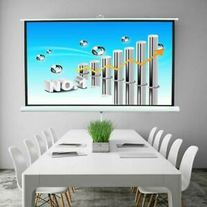 84 Ratio 16 9 Projection Projector Screen Manual Pull Up Stand Tripod