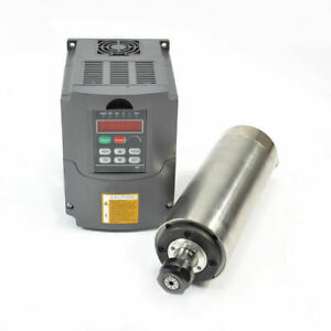 Hy 2 2kw Water Cooled Motor Spindle Drive Inverter Vfd 80mm Ce Quality