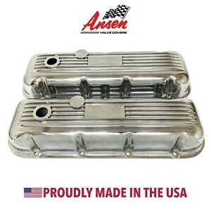 Big Block Chevy Classic Valve Covers Polished Die Cast Aluminum Ansen Usa