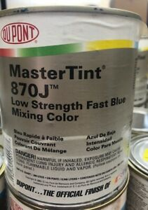 Dupont Mastertint Cromax Qt 870j Low Strength Fast Blue Quart Chromabase