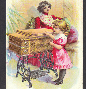 Antique Standard Rotary Shuttle Sewing Machine 1800 S Victorian Advertising Card