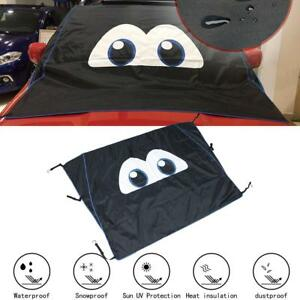 Universal Magnetic Windshield Cover For Ice Snow stylish Cartoon Eyes Design