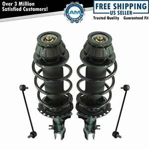 Front Loaded Complete Strut Spring Assembly Sway Bar Link 4pc Kit For Accent Rio