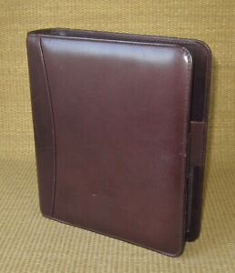 Classic 1 5 Rings Burgundy Leather Franklin Covey quest Open Planner binder