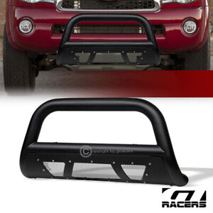 For 2005 2015 Toyota Tacoma Textured Black Studded Mesh Bull Bar Bumper Guard
