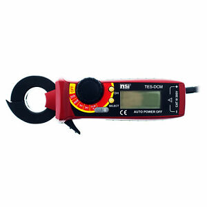 Tork Nsi Tes dcm Digital Auto ranging Electrical Clamp Meter 500v W Leads