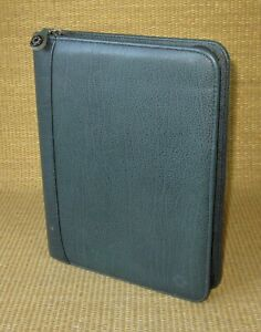 Classic 1 125 Rings Green Leather Franklin Covey Zip Planner binder Usa