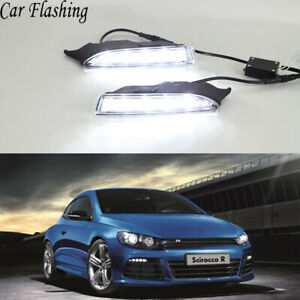 Exact Fit Switchback Led Drl Fog Lights W Turn Signals For Vw Scirocco R 2009 14